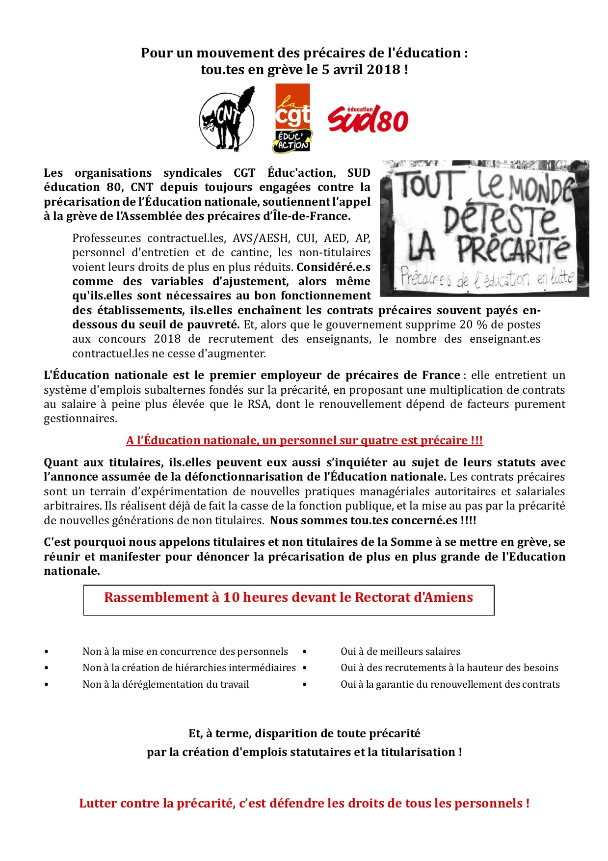 Archives Mars 2018 Sud Education Somme 80